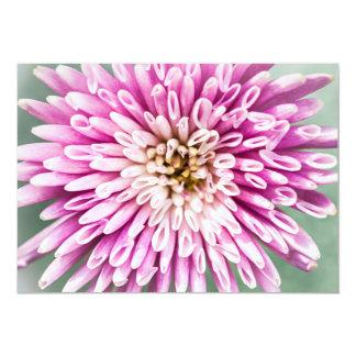 "Chrysanthemum flower closeup 5"" x 7"" invitation card"