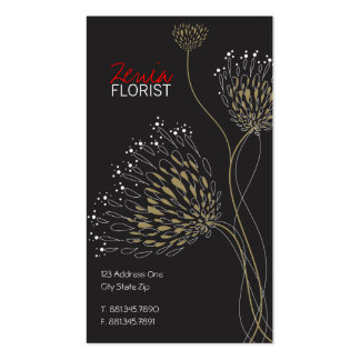 Chrysanthemum Flowers Floral Elegant Chic Business Business Card Templates