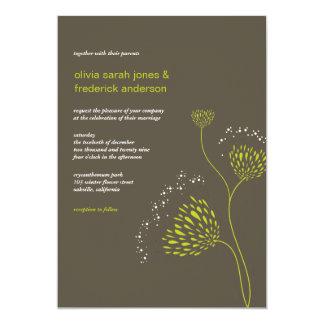 Chrysanthemum Flowers Floral Elegant Chic Wedding Card