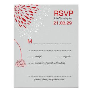 Chrysanthemum Flowers Floral Elegant Wedding RSVP Card