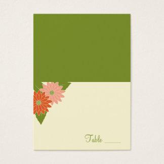 Chrysanthemum Folded Place Card - Pink/Yellow