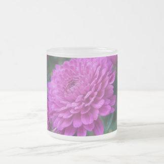 Chrysanthemum Frosted Glass Mug