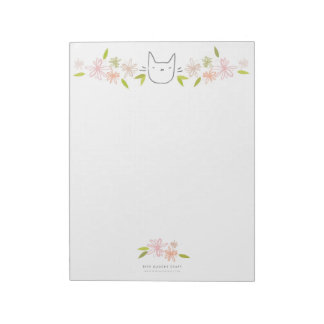 Chrysanthemum Garden Cat XL Notepad
