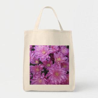 Chrysanthemum Group Plant Purple Tote Bags