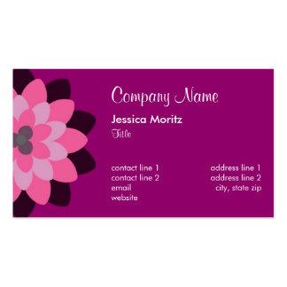 Chrysanthemum (Horizontal) - Raspberry Pink Pack Of Standard Business Cards