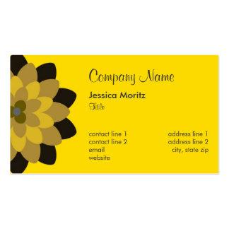 Chrysanthemum (Horizontal) - Yellow Pack Of Standard Business Cards