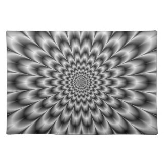 Chrysanthemum in Black and White Placemats