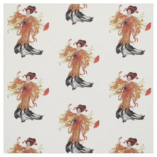 Chrysanthemum Japanese Flower Lady Floral Fabric