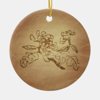 Chrysanthemum Laughter Magic Charms Christmas Ornament