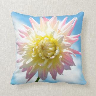 CHRYSANTHEMUM PINK WHITE YELLOW FLOWER CUSHION