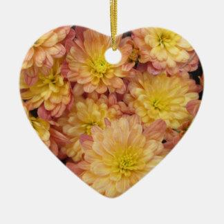 Chrysanthemum Plant Group Peach Ornament