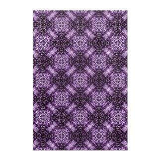 Chrysanthemum Purple Pattern Wall Art