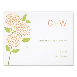 Chrysanthemum RSVP Card