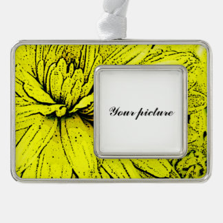 Chrysanthemum Silver Plated Framed Ornament