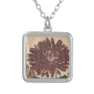 Chrysanthemum Silver Plated Necklace