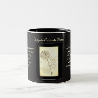 Chrysanthemum Stone Crystal Fairy Two-Tone Coffee Mug
