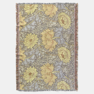 Chrysanthemum Throw Blanket
