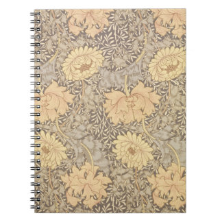 'Chrysanthemum' wallpaper design, 1876 Spiral Notebook