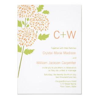 Chrysanthemum Wedding Invitation
