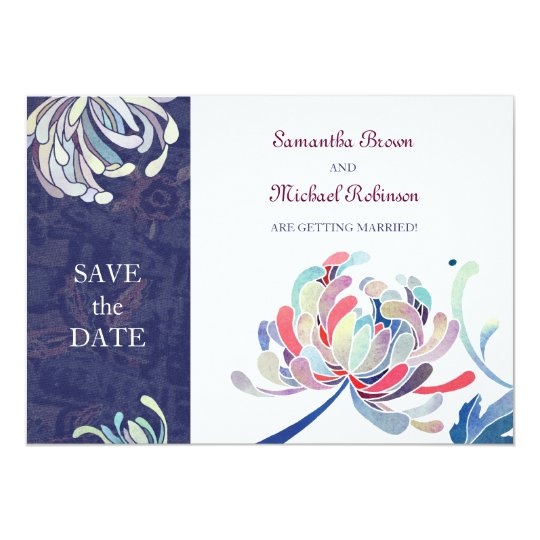 Chrysanthemum Wedding Save the Date Invitations
