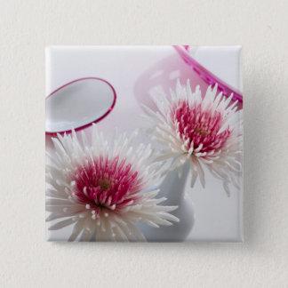 Chrysanthemums 15 Cm Square Badge