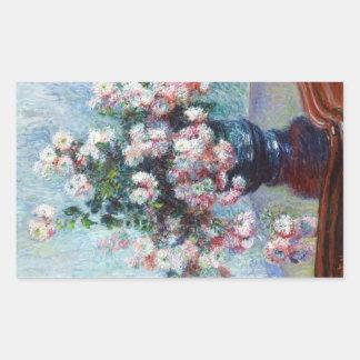 Chrysanthemums, 1882 Claude Monet Rectangular Stickers