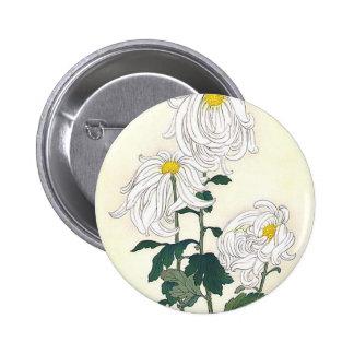 Chrysanthemums 6 Cm Round Badge