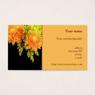 """Chrysanthemums and Goldenrods"" business card"
