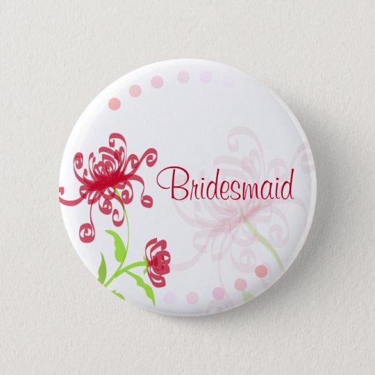 Chrysanthemums Bridesmaid/Bestman Badge