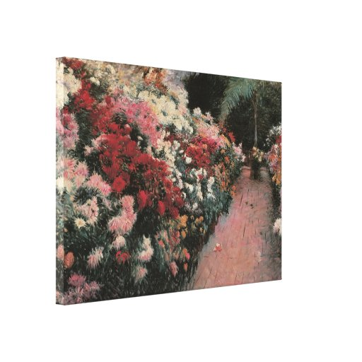 Chrysanthemums by Bunker Vintage Impressionism Art Stretched Canvas Prints