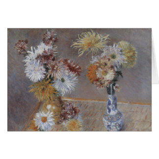 Chrysanthemums by Gustave Caillebotte Card