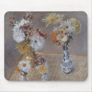 Chrysanthemums by Gustave Caillebotte Mouse Pad