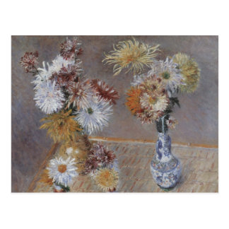 Chrysanthemums by Gustave Caillebotte Postcard