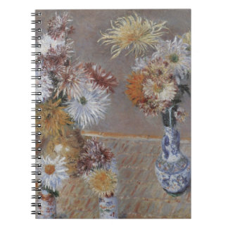 Chrysanthemums by Gustave Caillebotte Spiral Notebook