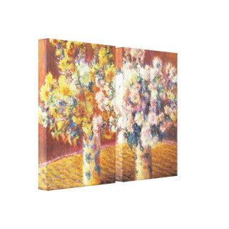 Chrysanthemums by Monet Canvas Prints