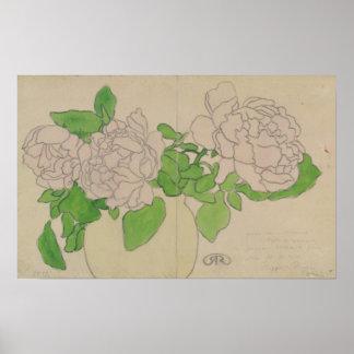 Chrysanthemums, c.1900 poster