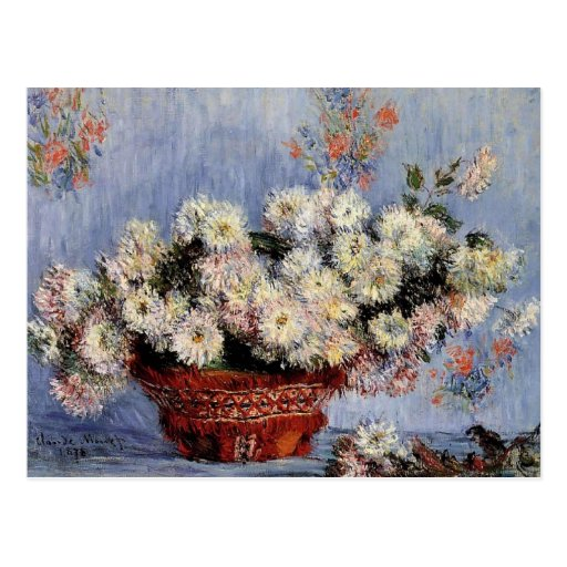 Chrysanthemums - Claude Monet Post Cards