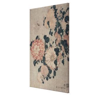 Chrysanthemums (colour woodblock) canvas print
