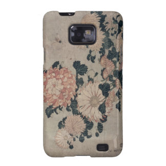 Chrysanthemums colour woodblock samsung galaxy s2 cases