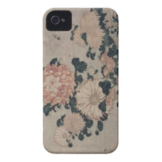 Chrysanthemums (colour woodblock) iPhone 4 Case-Mate case