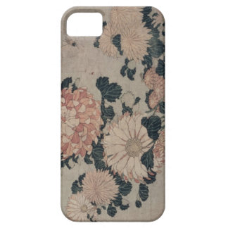 Chrysanthemums (colour woodblock) iPhone 5 cases