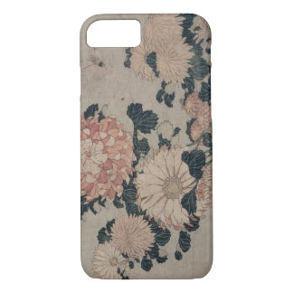 Chrysanthemums (colour woodblock) iPhone 7 case