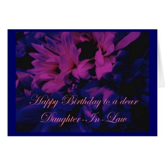 Chrysanthemums Daughter-In-Law Birthday Card