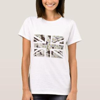Chrysanthemums Flower Union Jack British(UK) Flag T-Shirt