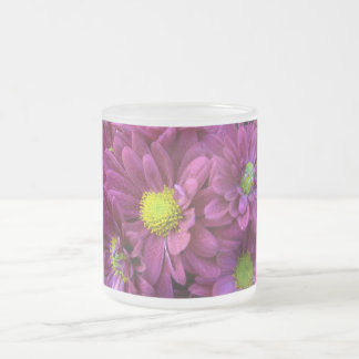 Chrysanthemums Frosted Glass Mug