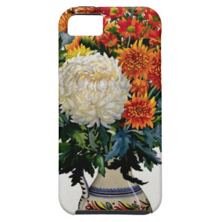 Chrysanthemums in a patterned jug 2005 tough iPhone 5 case