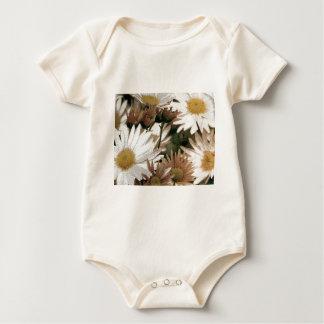 Chrysanthemums in Bloom. Emulsion Transfer Baby Bodysuit