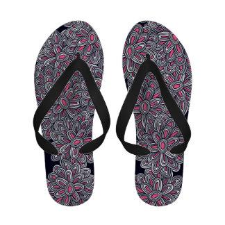 Chrysanthemums in Pink Flip Flops