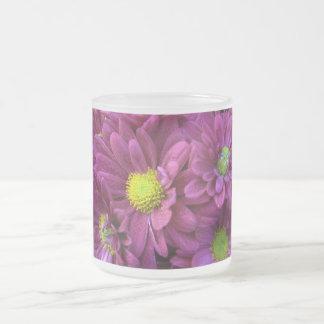 Chrysanthemums 10 Oz Frosted Glass Coffee Mug
