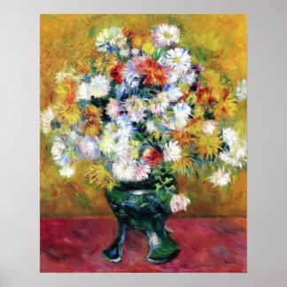 Chrysanthemums   Renoir Poster